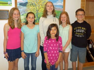 Mount Desert Elementary School students who participated in the Garden Cub Youth contests.